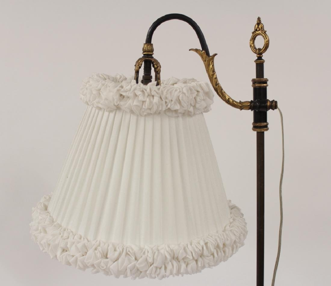 2 Metal Standing Reading Lamps,20th C. - 3
