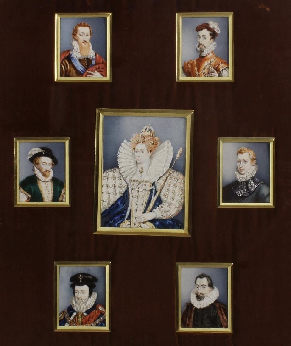 Elizabeth I & Courtiers, 19th c. Miniatures