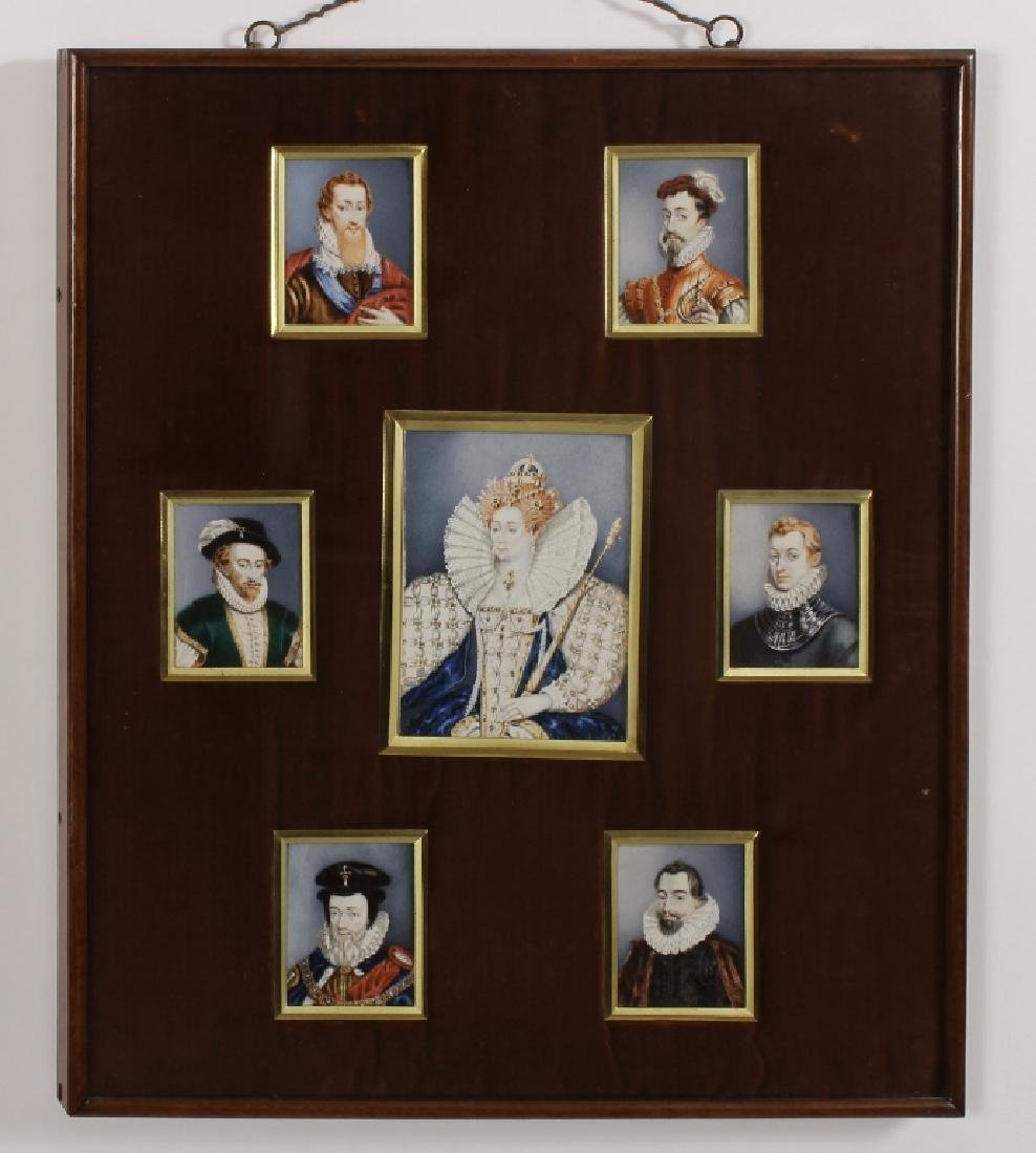 Elizabeth I & Courtiers, 19th c. Miniatures - 2