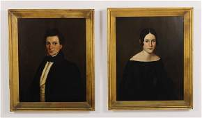 Pair of Portraits e19th CWadsworth Family OB