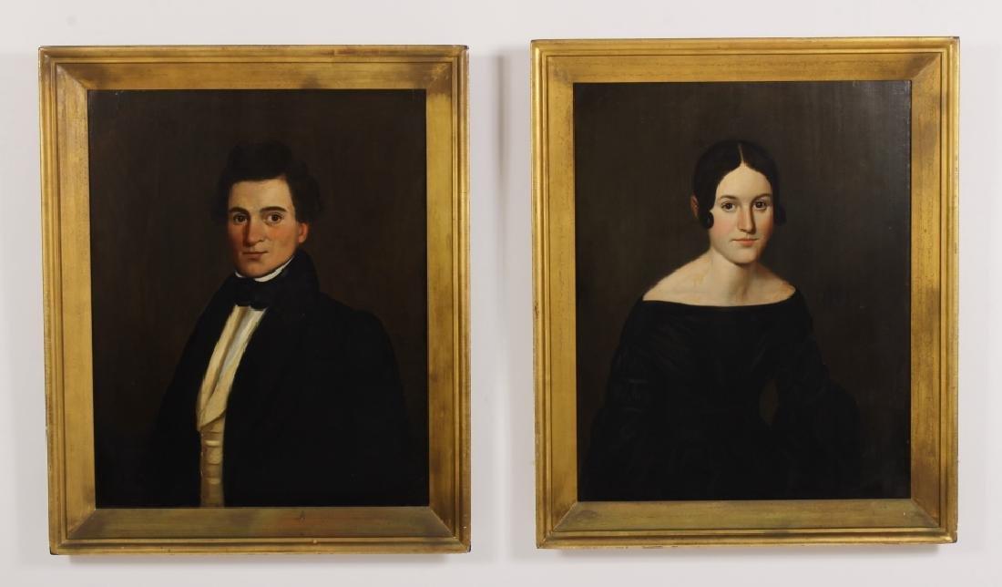 Pair of Portraits, e.19th C.,Wadsworth Family, O/B