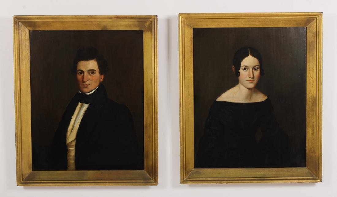 Pair of Portraits, e.19th C.,Wadsworth Family, O/B