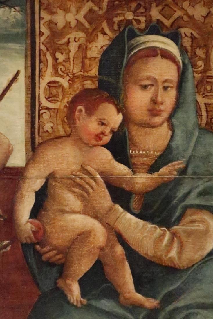 After Bellini, 16th c, Madonna w Child Saints, O/P - 3