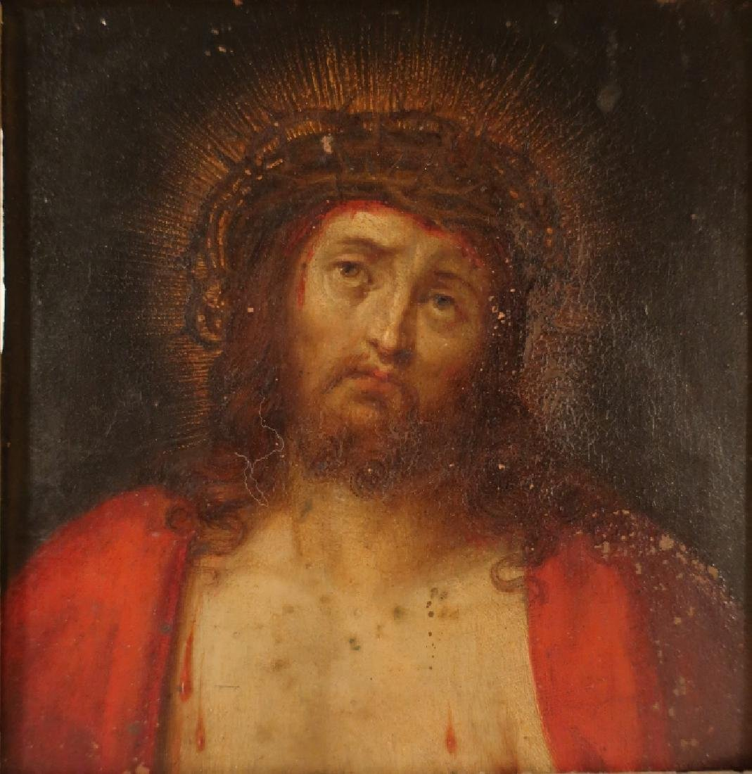 Old Master 16th-17th c, Christ, Oil on Copper
