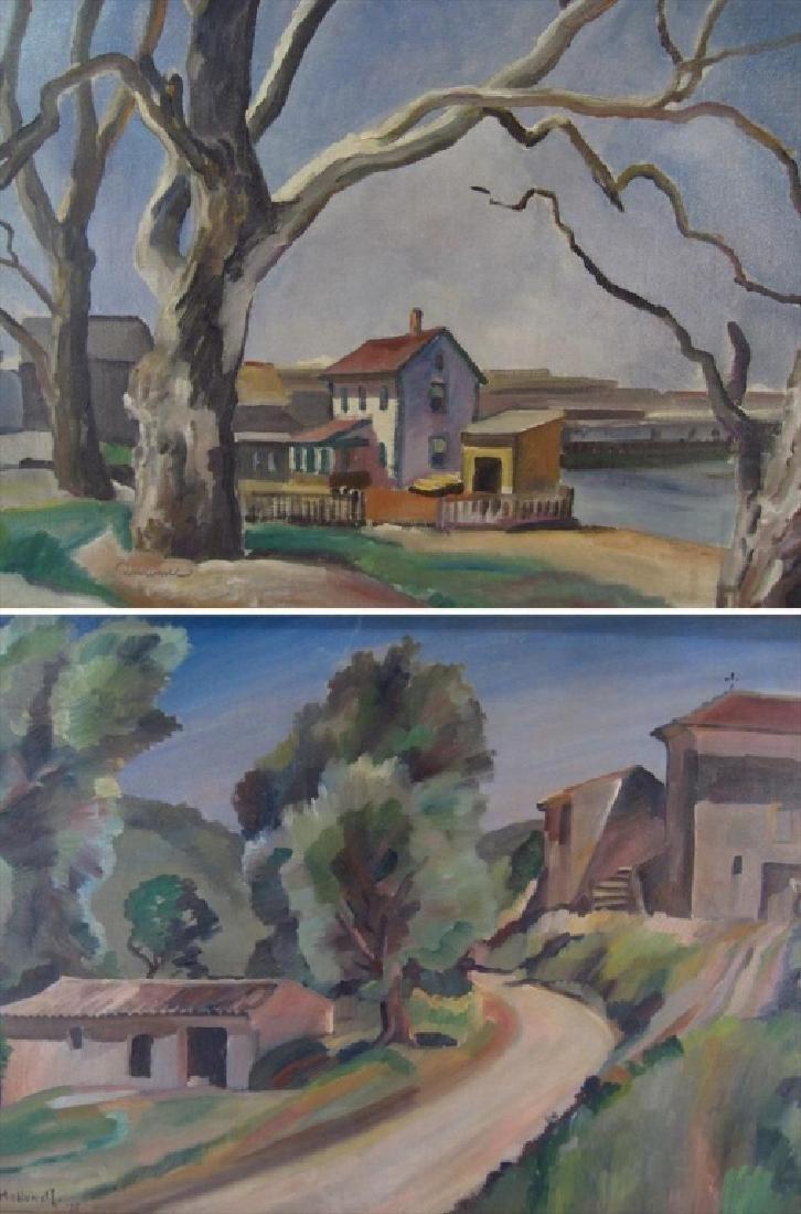 Robert Hallowell, Am., 1886-1939, Two Oils