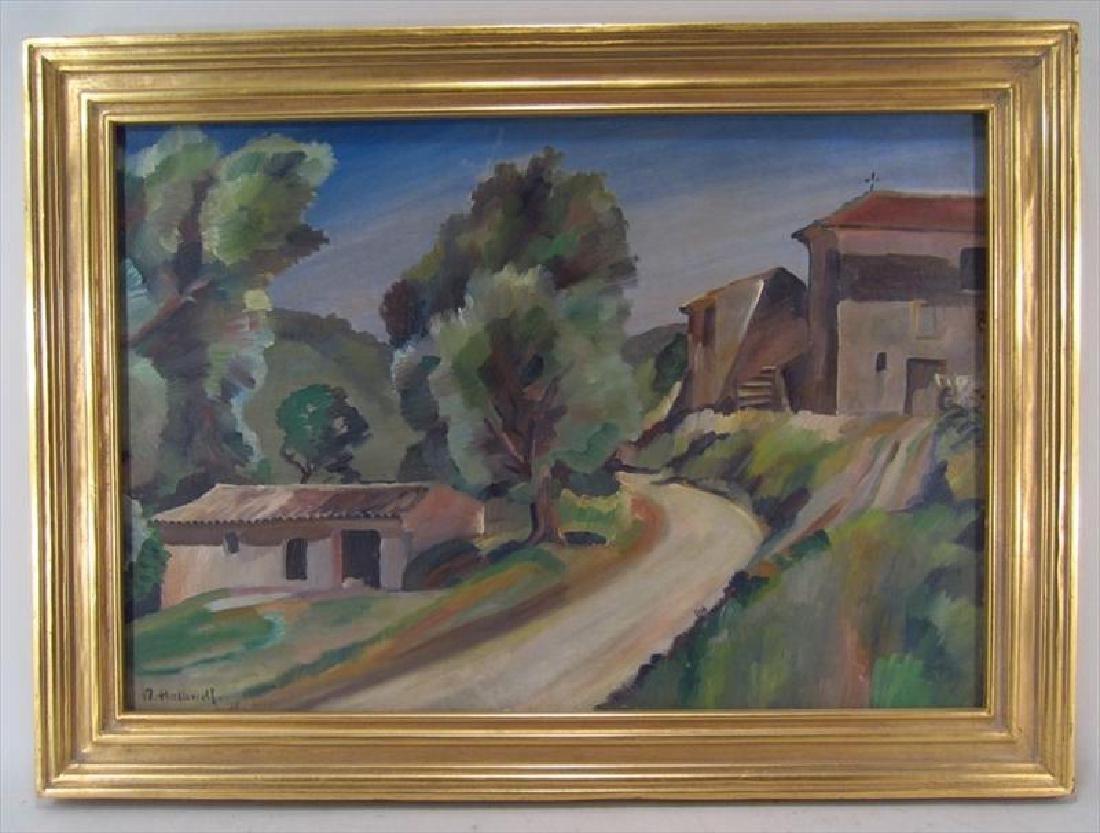 Robert Hallowell, Am., 1886-1939, Two Oils - 2