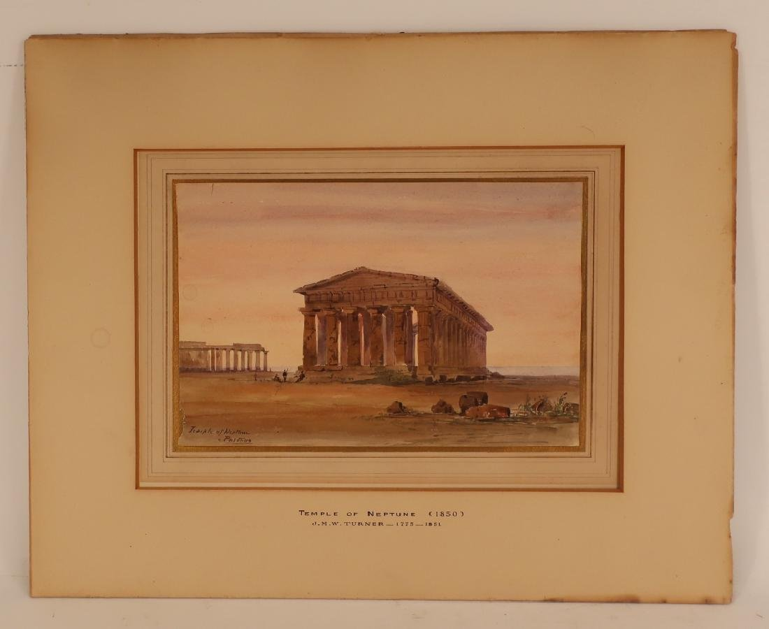 "Mnr of Turner, 19th c. ""Temple of Neptune""  W/C - 2"