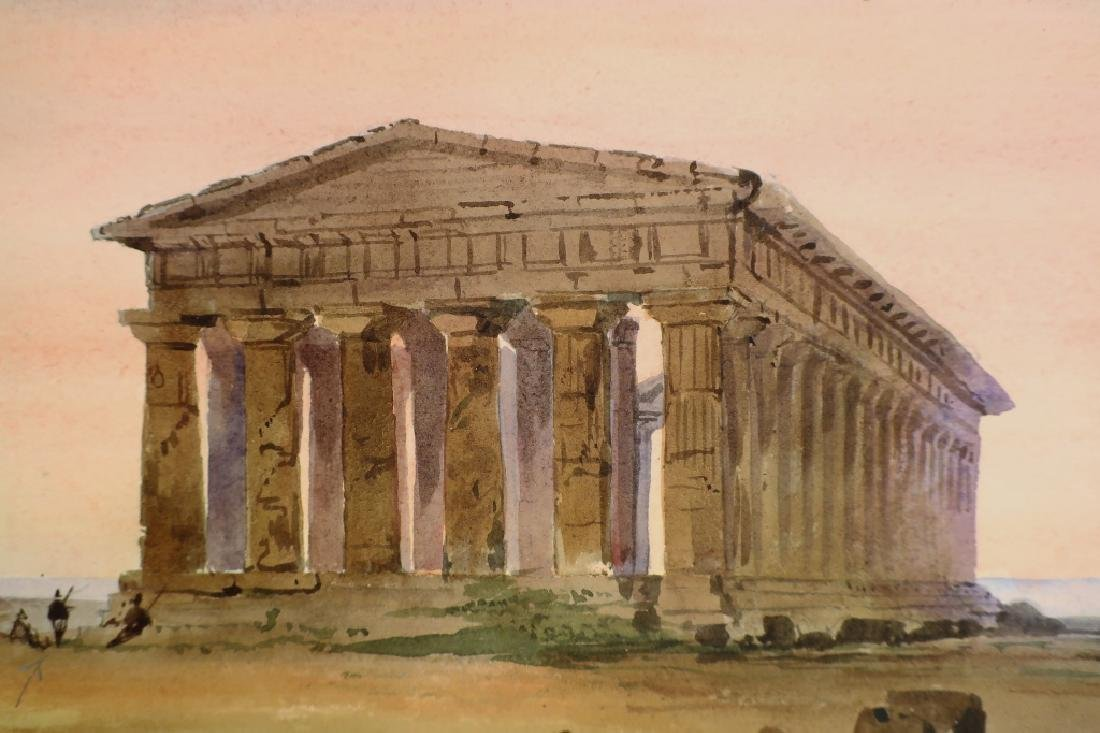 "Mnr of Turner, 19th c. ""Temple of Neptune""  W/C - 3"