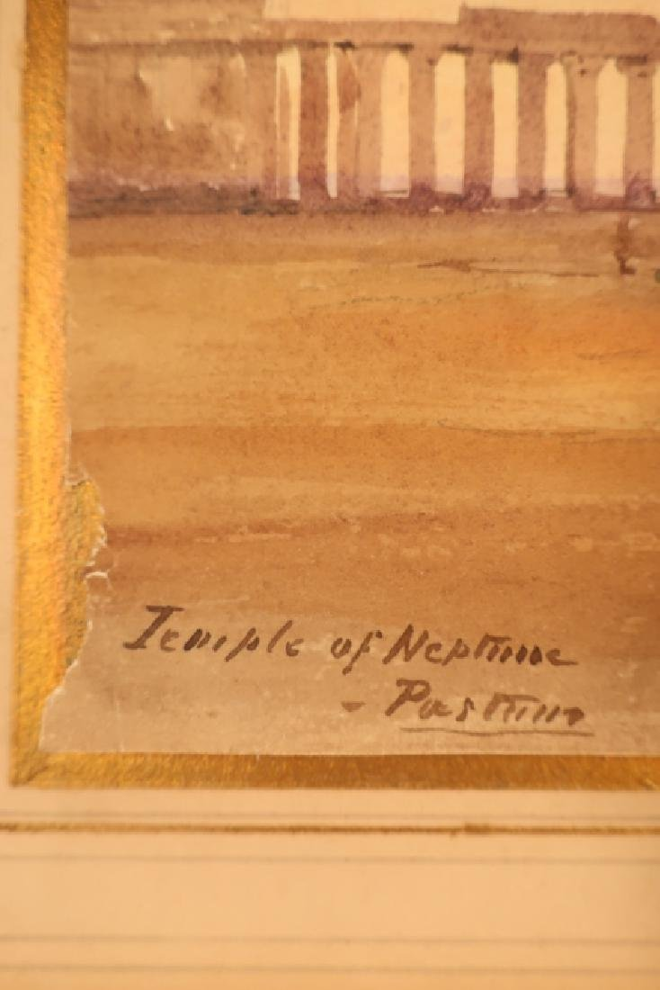 "Mnr of Turner, 19th c. ""Temple of Neptune""  W/C - 6"
