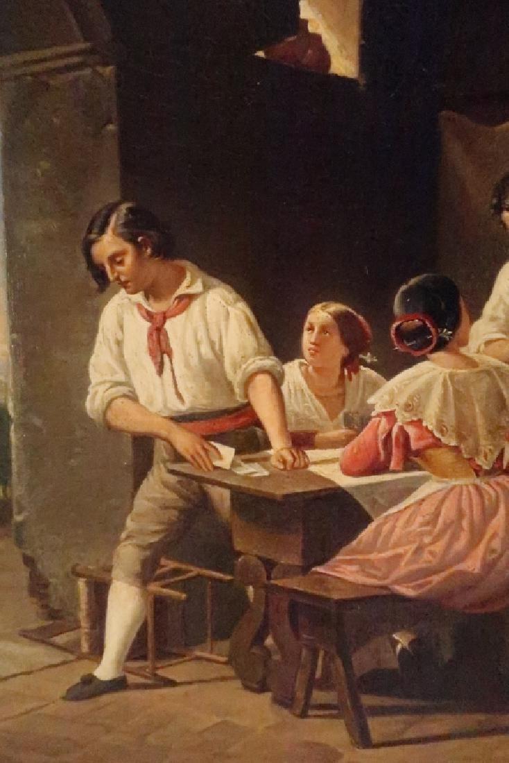 German School, 19th C., Italian Tavern Scene, O/C - 3
