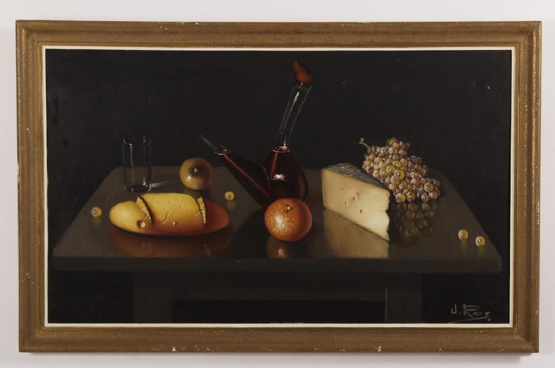 J. Ross, Mid-20th C., Still Life, Oil on Canvas - 2