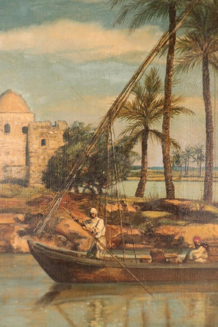 J. Thors Orientalist Scene O/C 19th C. - 4