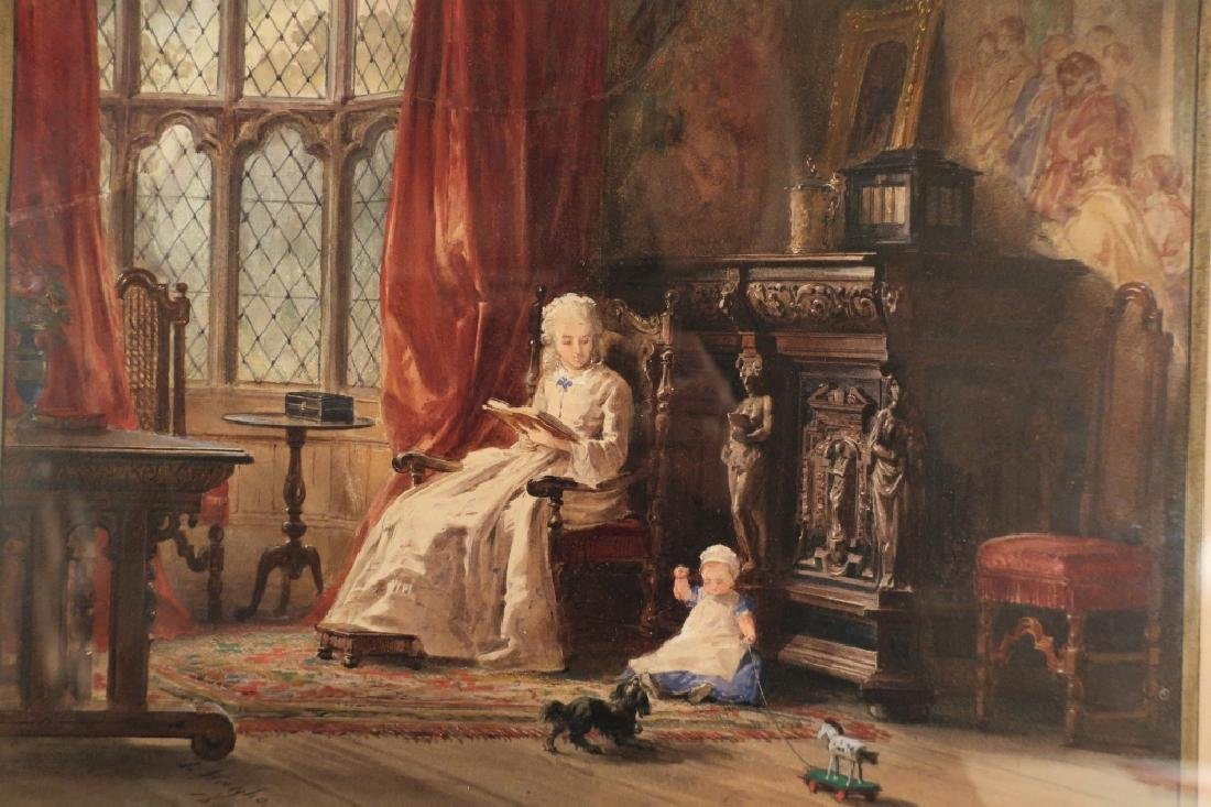 Louis Haghe 1806-1885 Interior Scene W/C 1869