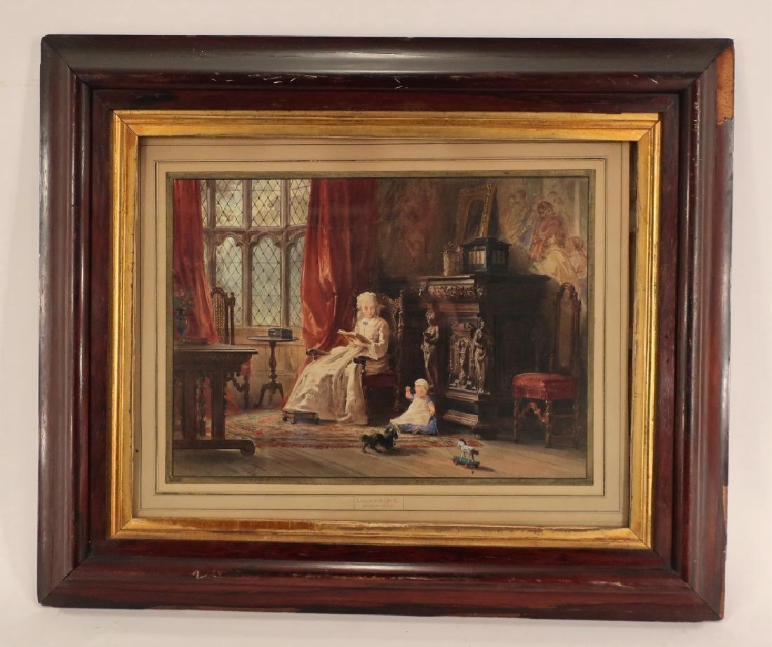 Louis Haghe 1806-1885 Interior Scene W/C 1869 - 2