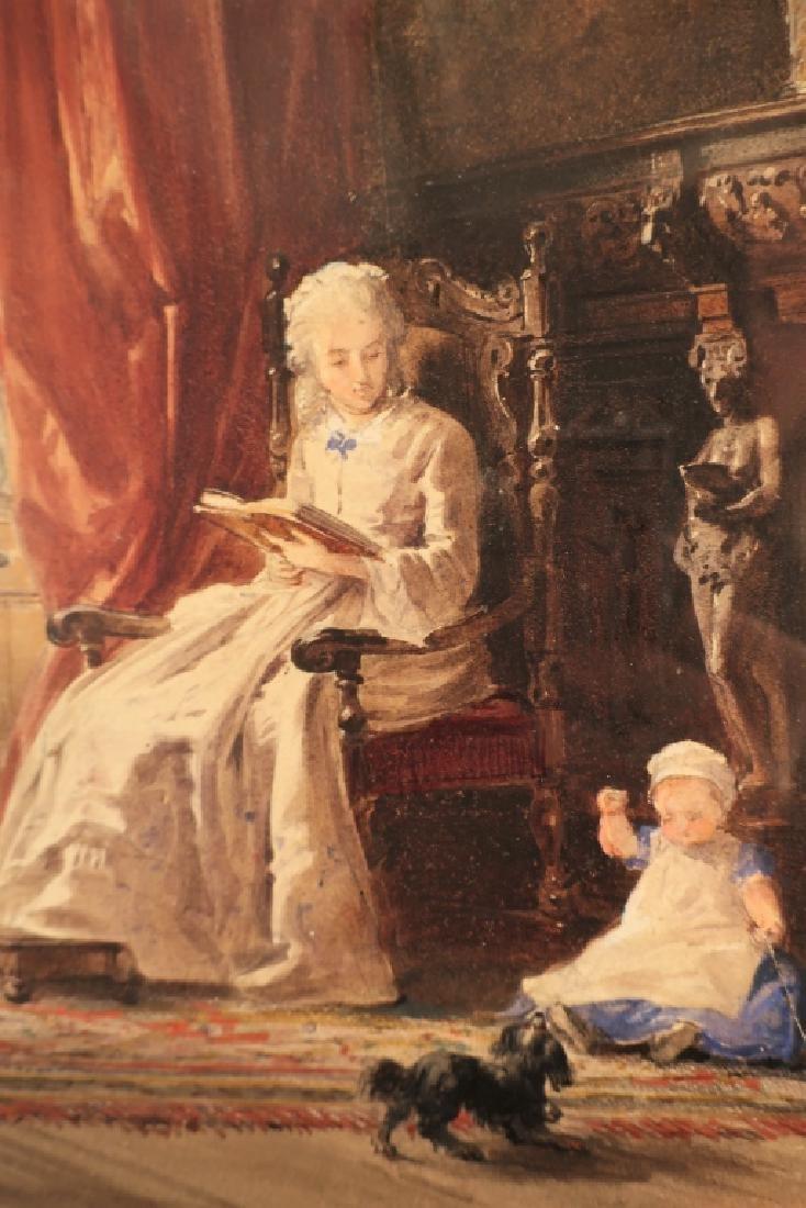 Louis Haghe 1806-1885 Interior Scene W/C 1869 - 3
