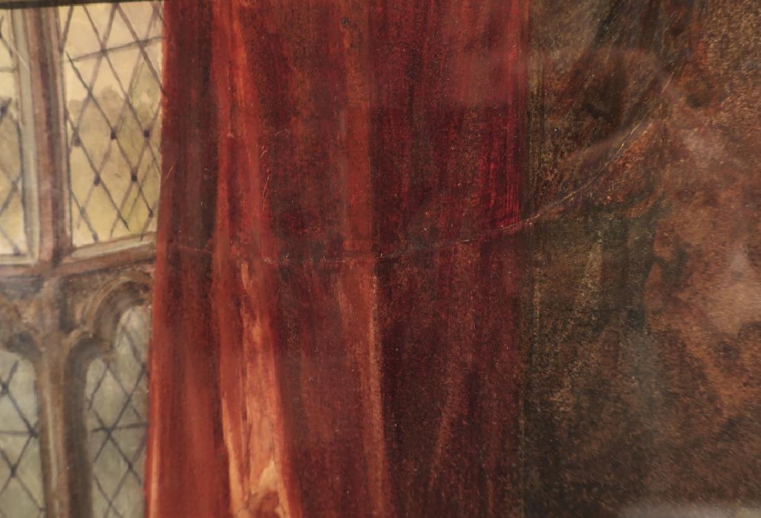 Louis Haghe 1806-1885 Interior Scene W/C 1869 - 5