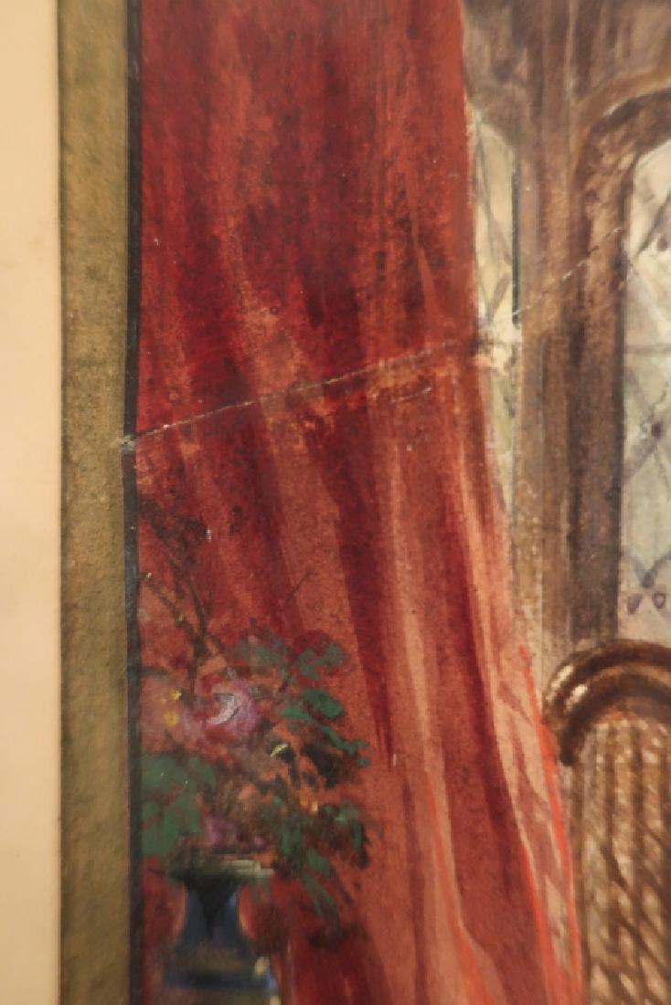Louis Haghe 1806-1885 Interior Scene W/C 1869 - 6