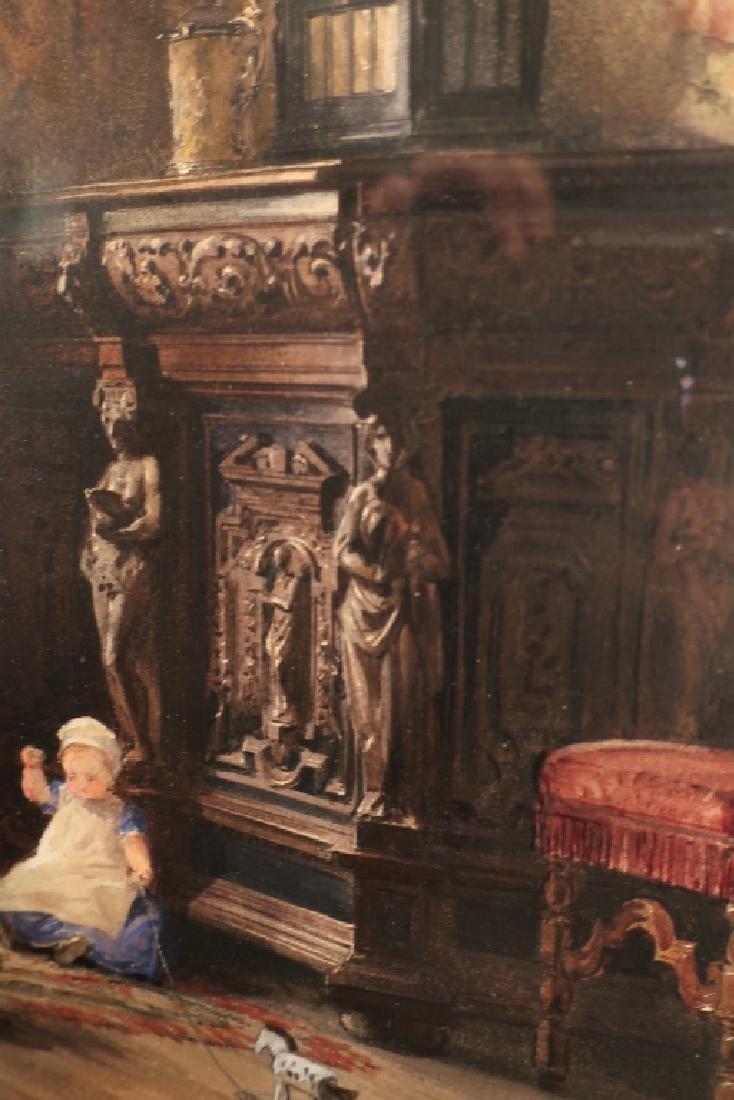 Louis Haghe 1806-1885 Interior Scene W/C 1869 - 8