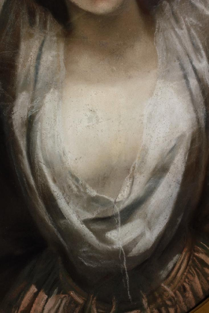 Woman w/ Raised Arms French Pastel Early 19th C. - 3