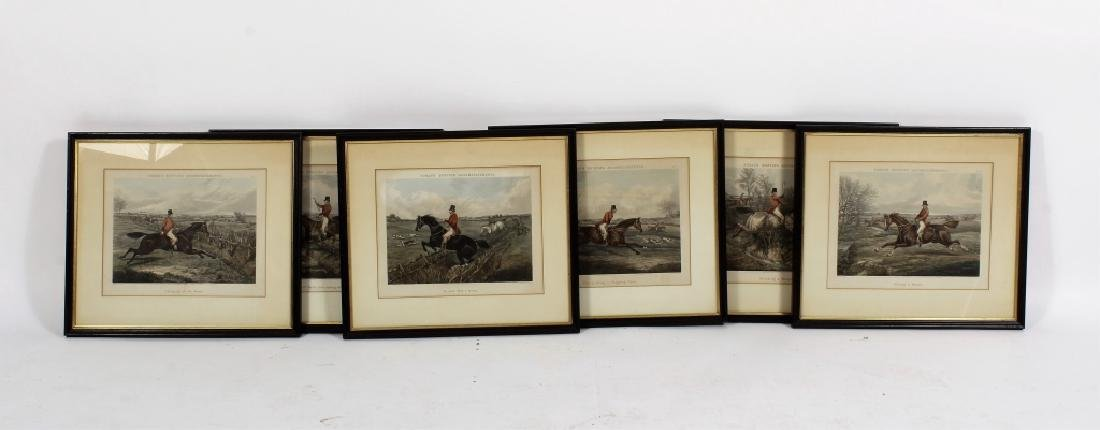 6 English hunt prints ,London, 1850