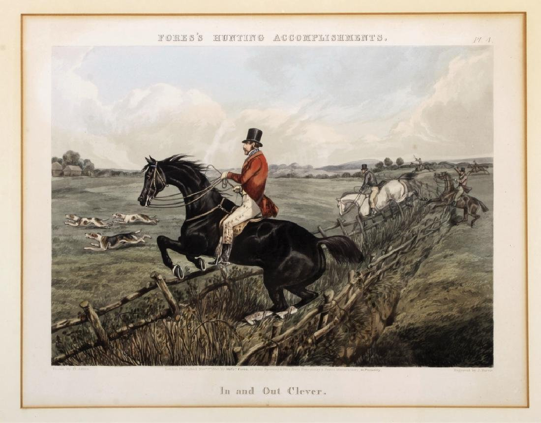 6 English hunt prints ,London, 1850 - 2