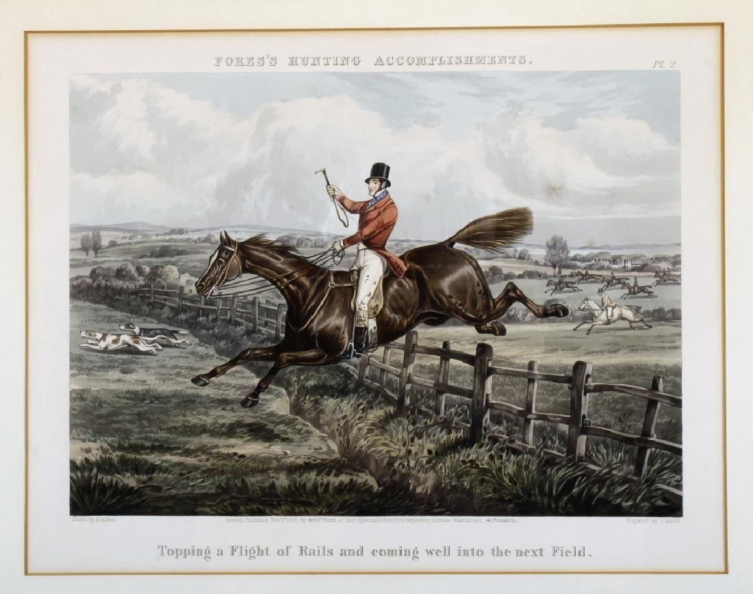 6 English hunt prints ,London, 1850 - 4