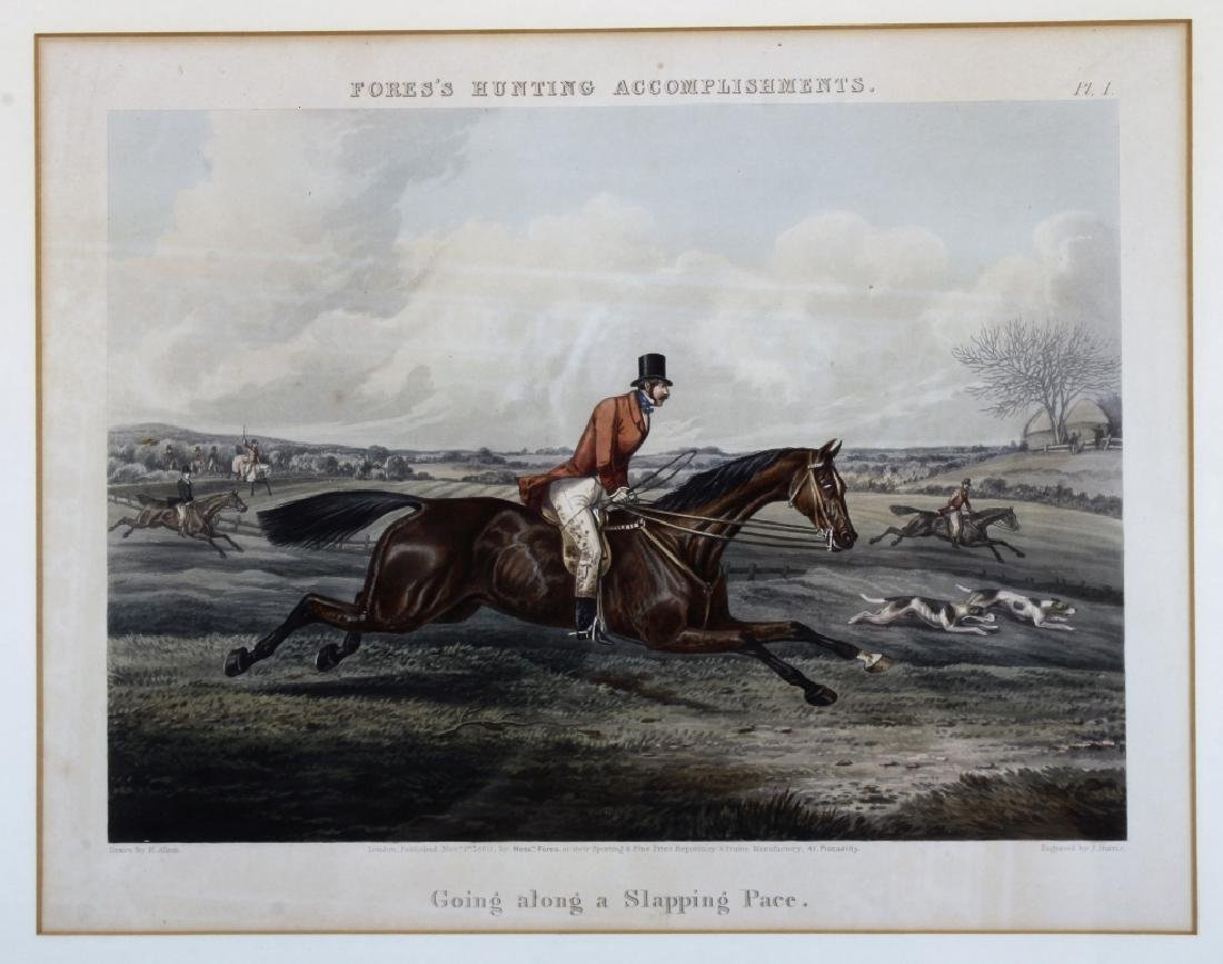 6 English hunt prints ,London, 1850 - 5