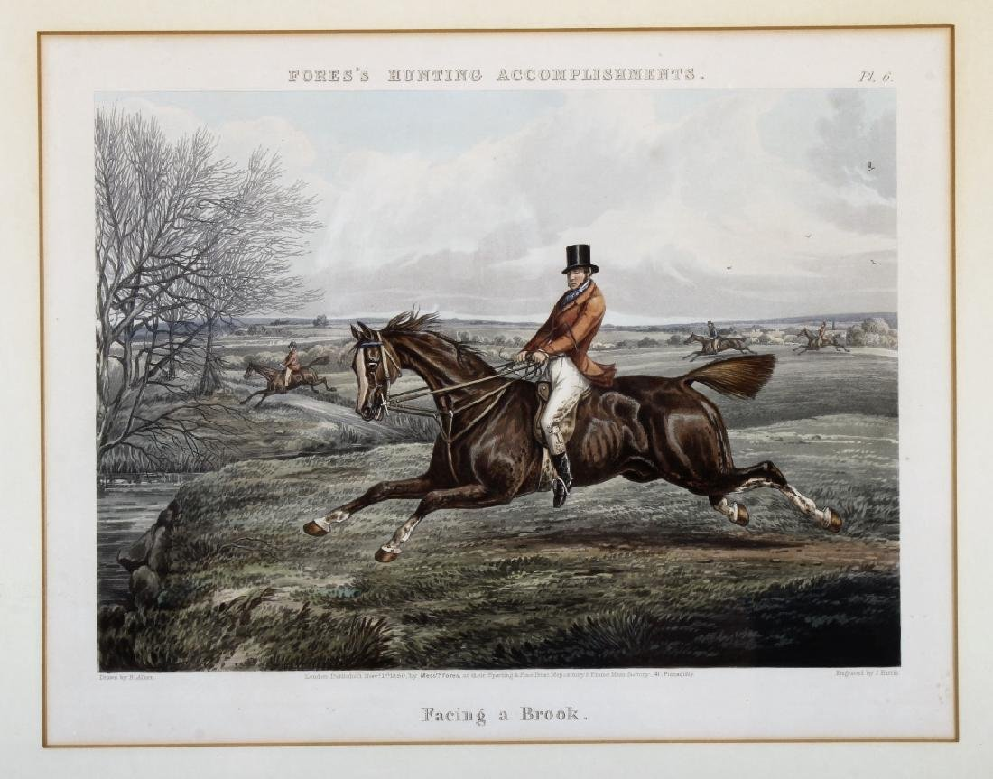 6 English hunt prints ,London, 1850 - 6