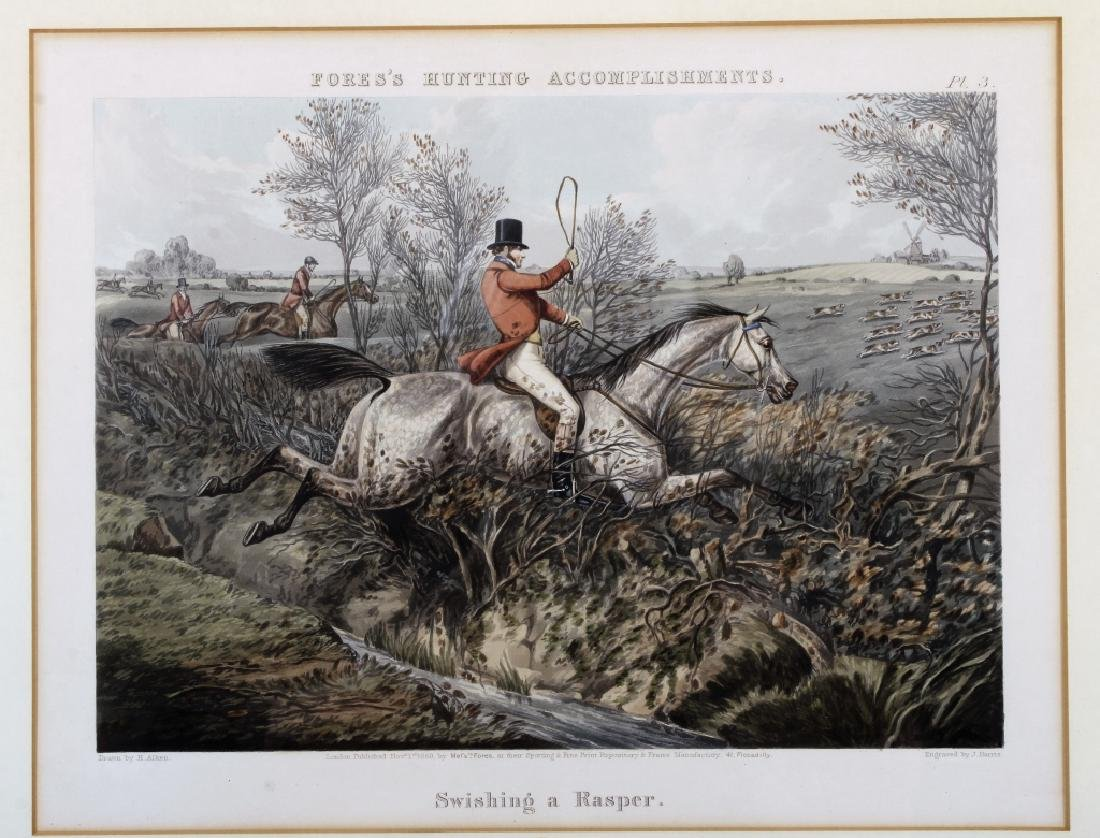 6 English hunt prints ,London, 1850 - 7