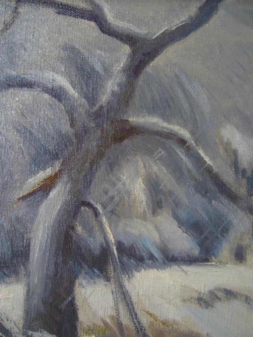 """Eliot Clark 1883-1980 Landscape & """"Blizzard"""", o/c - 10"""