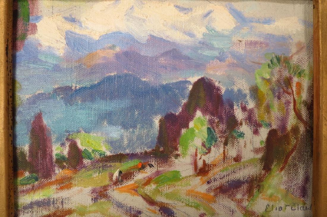 """Eliot Clark 1883-1980 Landscape & """"Blizzard"""", o/c"""
