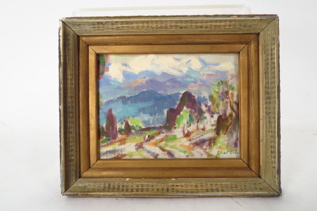 """Eliot Clark 1883-1980 Landscape & """"Blizzard"""", o/c - 2"""