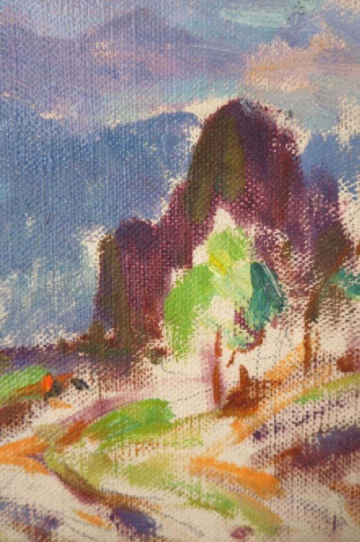 """Eliot Clark 1883-1980 Landscape & """"Blizzard"""", o/c - 3"""
