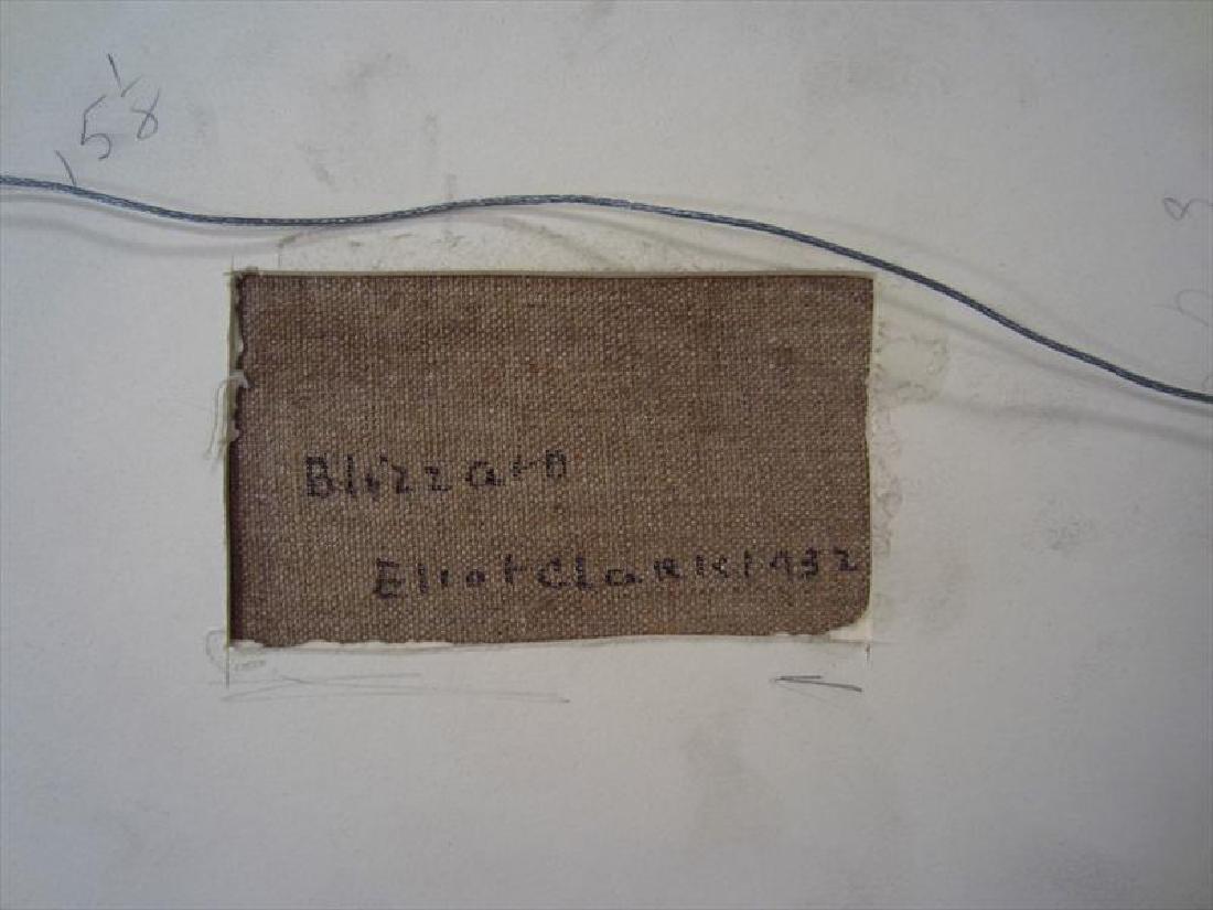 """Eliot Clark 1883-1980 Landscape & """"Blizzard"""", o/c - 6"""