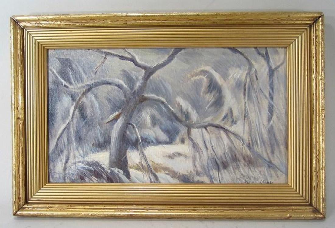 """Eliot Clark 1883-1980 Landscape & """"Blizzard"""", o/c - 8"""