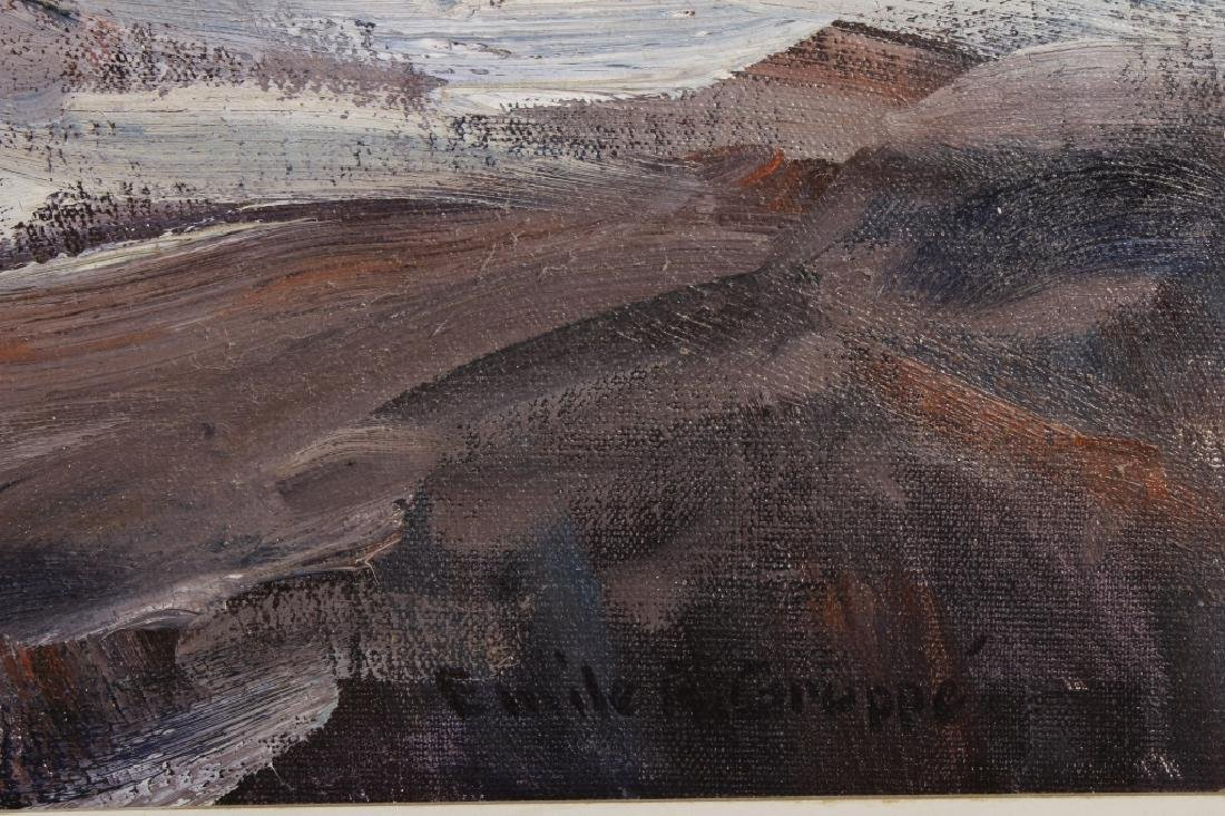 """Emile Gruppe, Am.,  """"After the Storm"""", O/C, Signed - 6"""