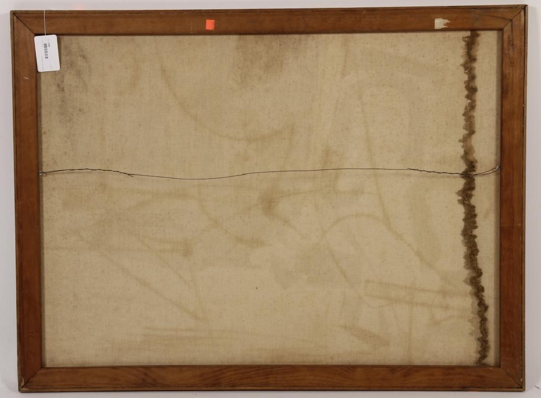 Arnold Weber, Am., 1921-2010, Dark Abstract O/C - 6