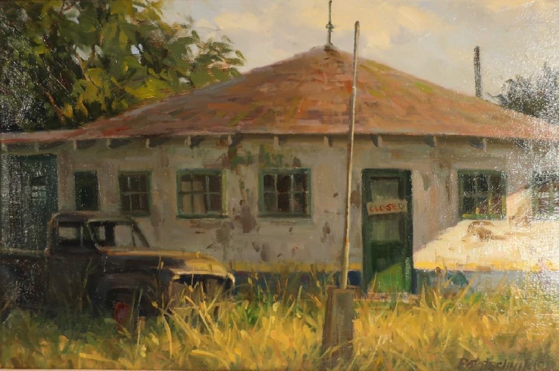 John Pototschnik b.1946 No More Gas O/B