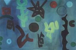 Arnold Weber Am 19212010 Blue Abstract