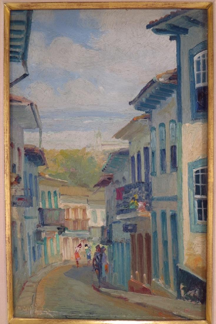 4 Mario De Oliveira Brazil Village Scenes O/C 1987 - 3