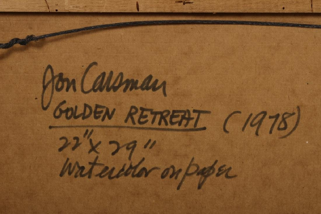 "Jon Carsman. Am. 1944-1987, ""Golden Retreat"", W/C - 9"