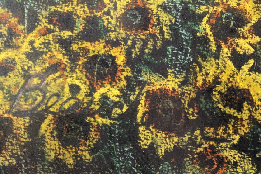 Beauchemin Sunflower Field Pastel 20th C - 4