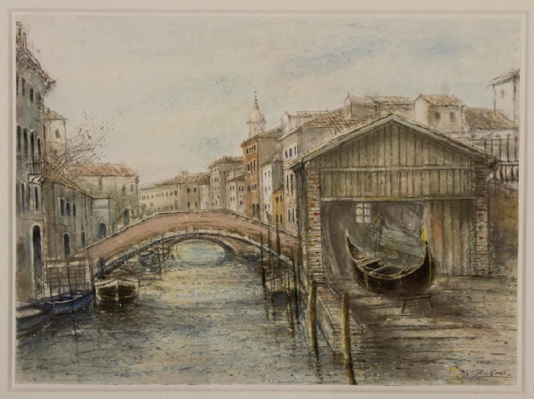 Lot of 2 Bruno Zupan Venice Scenes Lithographs