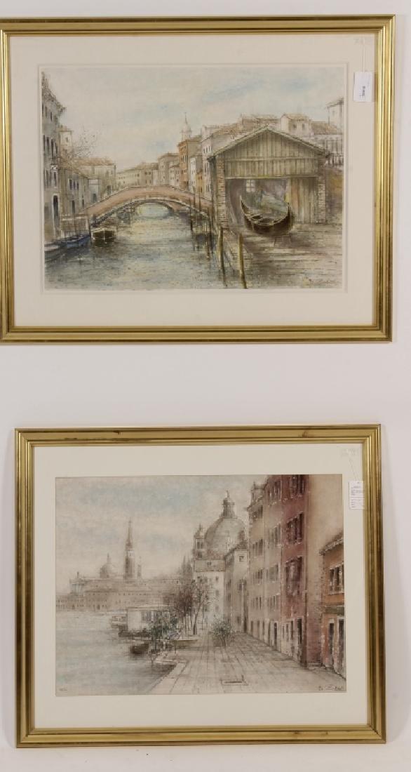 Lot of 2 Bruno Zupan Venice Scenes Lithographs - 2