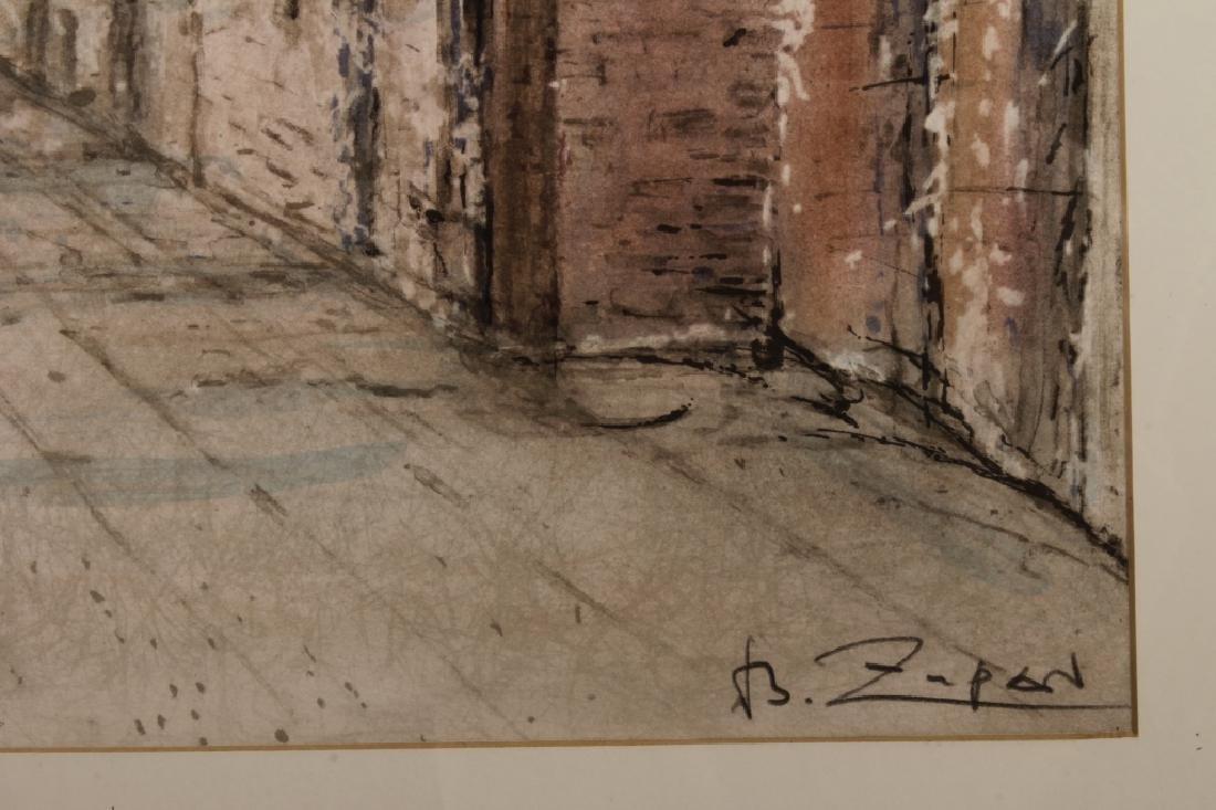 Lot of 2 Bruno Zupan Venice Scenes Lithographs - 8