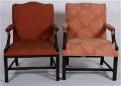 Near Pr of George III Style Arm Chairs E 20th C