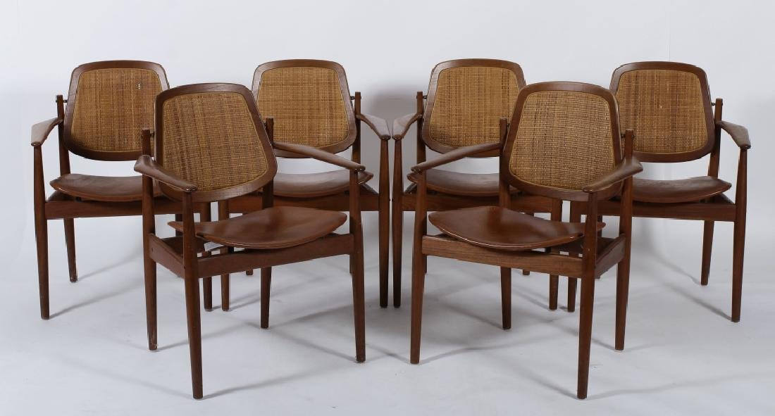 Six Arne Vodder for France & Son Arm Chairs
