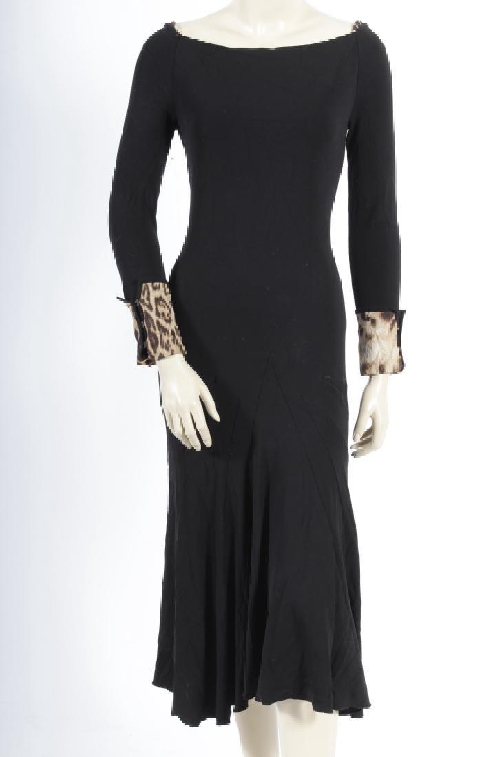 Roberto Cavalli Black Jersey Dress
