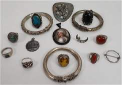 Sterling Silver & Other Jewelry Pieces.