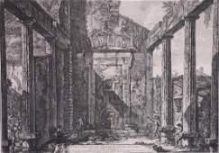 Giovanni Battista Piranesi, Temple View, etching